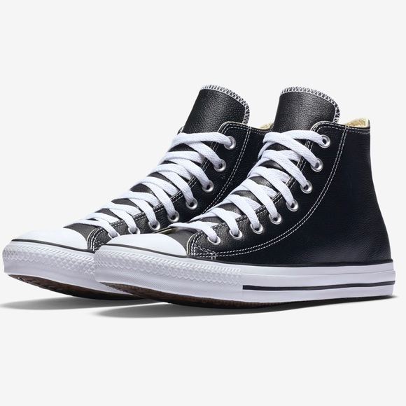 2b80951a6dcd Converse Shoes - Converse Black Leather Unisex High Tops